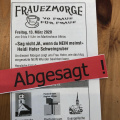 Absage Frauezmorge